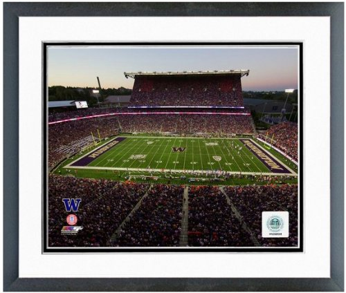 Washington Huskies NCAA Double Matted 8x10 Photograph University of Washington Team Logo