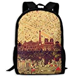 TTmom Zaini/Zaino Casual,Borse a Zainetto, Backpack Paris Skyline Abstract...
