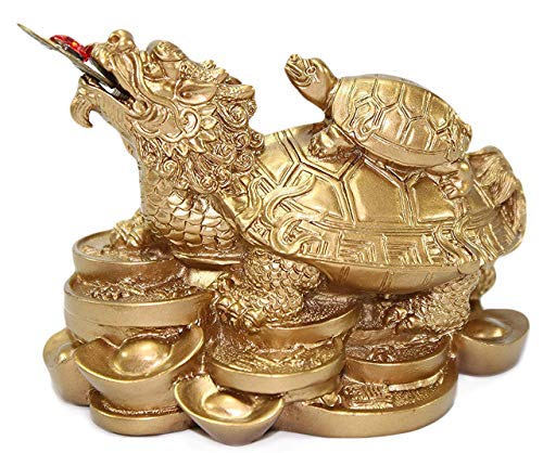 We pay your sales tax Feng Shui Gold Dragon Turtle...