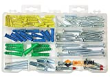 Qualihome Anchor Assortment Kit | Anchors, Molly Bolts, Screws, Toggle Bolts, Wings for Dr...