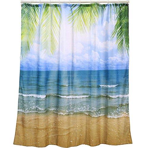 OOTB 31/4058  Duschvorhang, Plastik, mehrfarbig, 180 x 1 x 180 cm