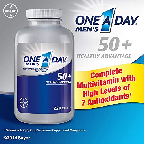 One A Day Mens 50 Plus Advantage Multi-Vitamins, Pack of 220 Count Total