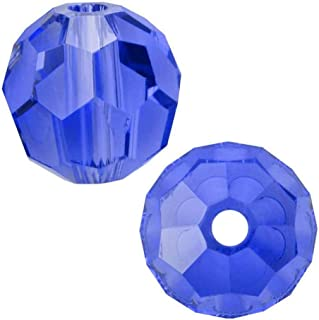 50pcs 10mm Adabele Austrian Round Crystal Beads Sapphire Compatible with 5000 Swarovski Crystals Preciosa SS2R-1013