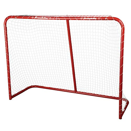 Franklin Sports Street Hockey Goal - Steel Street Hockey Net - All Weather Durable Outdoor Goal - 54