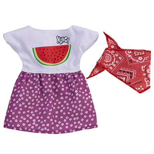 Famosa FAM72269 Nancy Vestido Casual, Sandia y Pañuelo, Multicolor