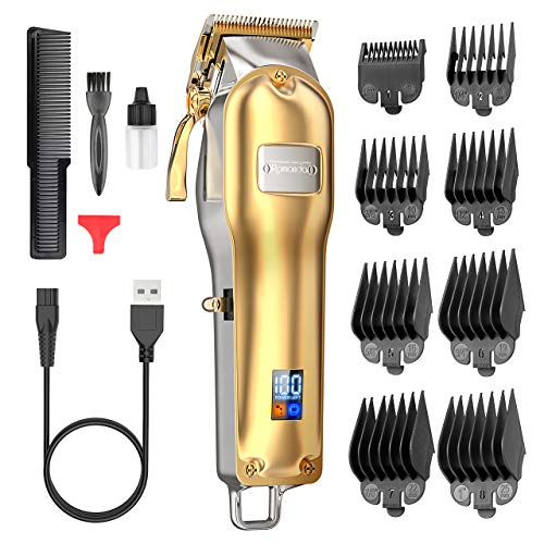 Romanda Hair Clippers for Men,Clippers for Hair Cutting Mens Hair Clippers Professional Kit Rechargeable Cordless/Cord Electric Haircut Kit with 2500 mAh LCD Display,8 Guide Combs for Men and Barbers