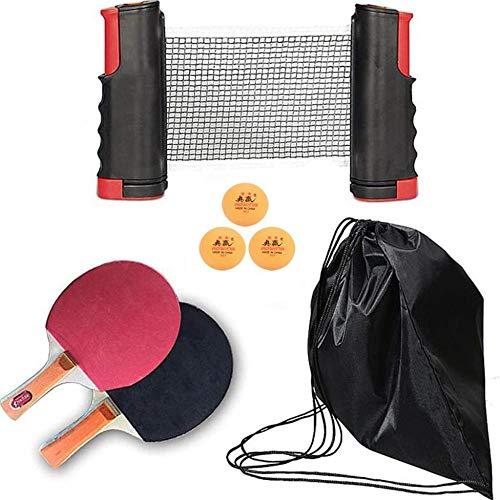 ZSHYP Tafel Tennis Net Set Intrekbaar, Ping Pong Net Draagbaar Voor Eettafel, Bureau Bureau, Thuis Keuken
