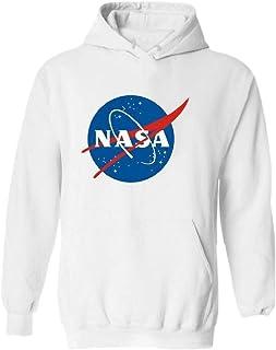Agana Men Plus Size Letters Print Hoodie Pullover Nasa Sweatshirts