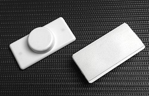 Der Jalousienladen EFIXS Rollomagnethalter - Farbe: Weiss - für magnetische Rollo-Unterschienen/Beschwerungsprofile - 2 Stück = 1 Paar