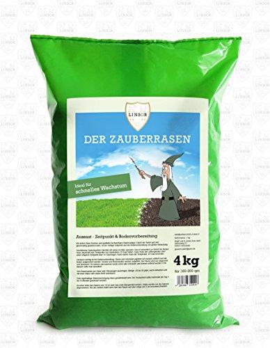 Original Linsor *Zauberrasen* 4kg Hochqualitativer schnellwachsender Rasensamen | Saatgut die ihrem Garten Qualität bietet | Grassamen | Rasen - Gras - Samen | Wunderrasen