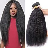 Kinky Straight Human Hair Bundles 22 24 26Inch Yaki Straight Human...