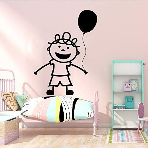 Mooie kleurrijke ballon kleine jongens muur Sticker Decor voor kinderen kamer behang muurstickers verwijderbare waterdichte Wallstickers