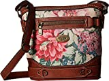 b.o.c. Womens Floral Park Crossbody Dusty Pink Floral/Saddle One Size