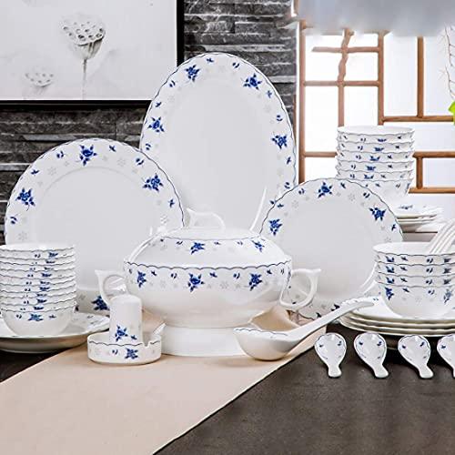 Daily Accessories 58 piece Ivory White Porcelain Breakfast Set White Plate Set porcelain Bowl ceramic Bowls kitchen Plates Set dinner Plate Sets