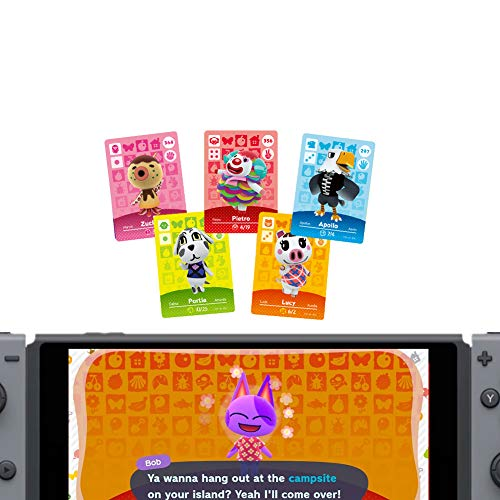 24 Stück Animal Crossings New Horizons Serie 1-4 NFC-Karten, New Horizons Game Rewards-Karten, Switch / Lite Wii U 3DS