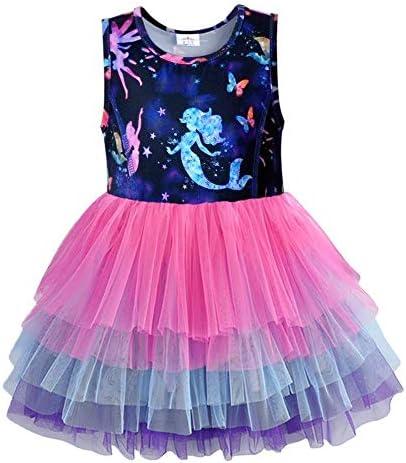 VIKITA Girls Summer Cute Sundress Short Sleeve Casual Cotton Dress SH4593 5T product image