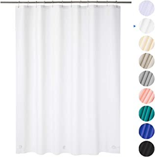 "AmazerBath Plastic Shower Curtain, 70"" W x 72"" H EVA 8G Shower Curtain with Heavy Duty Clear Stones and Grommet Holes, Waterproof Thick Bathroom Plastic Shower Curtains Without Chemical Odor-Frosted"