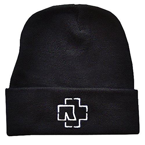Rammstein Fan Wollmütze Outline Logo schwarz, Offizielles Band Merchandise