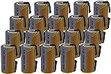 20 X Batteria Pila SC 2000mAh 2.0Ah Ni-Cd 1,2V con lamelle a saldare per pacchi batterie trapani torce allarmi