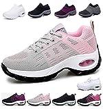 Sneakers Zeppa Donna Scarpe da Ginnastica Basse Corsa Sportive...