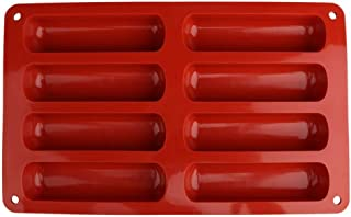 Huntgold2 Moule en Silicone 8 Cavités Moules Forme Gâteau pour Biscuit Fondant Chocolat Outil de Cuisson Terre Cuite