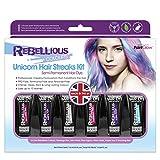 Paint Glow Rebellious Colours Unicorn Hair Streaks Kit Temporary Semi...