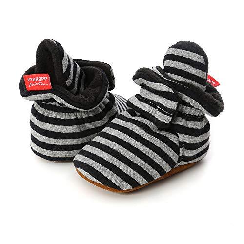 Sabe - Zapatillas de Forro Polar para niños y niñas, con Suela Suave, Unisex, Antideslizantes, Ideales para el Primer cumpleaños o Navidad