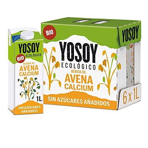 Yosoy - Bebida Vegetal Ecológica De Avena Calcio, Caja De 6 X 1L 6000 ml