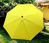 Bellrino Decor 10ft 8costillas de repuesto amarillo 'fuerte y de grosor' paraguas cubierta 10ft 8costillas amarillo (Cubierta solamente)
