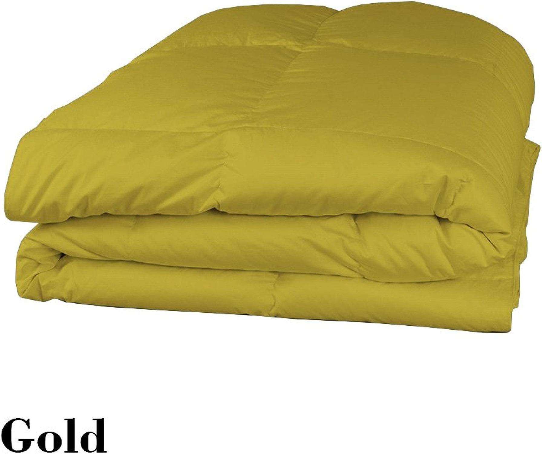 Dreamz Parure de lit Super Doux Coton égypcravaten 300Fils 1pièce Doudou (100g m2 Fibre Fill) Empereur, Or Massif 100% Coton 300tc Parure de lit