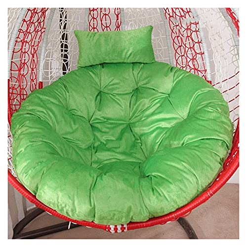 wangYUEQ Cesta colgante para silla de huevo, cojines para silla de hamaca, cojines gruesos de nido suave, esponjoso y transpirable para cuna de jardín (verde) (color: verde)