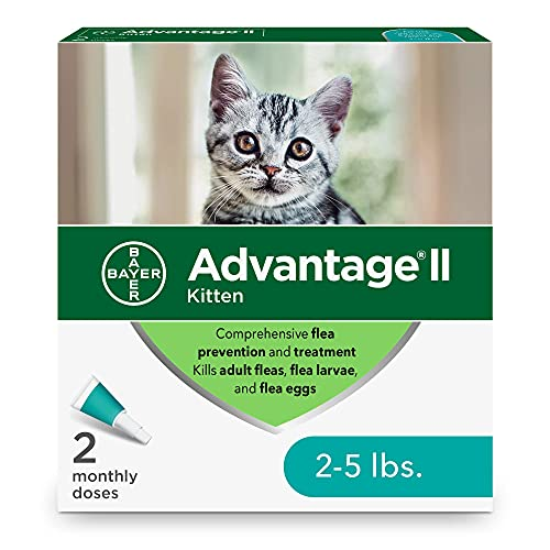 Advantage II 2-Dose Flea Treatment and Prevention for Kittens  2-5 Pounds