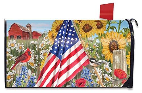 Americana de mooie zomer grote brievenbus cover patriottische primitieve oversized