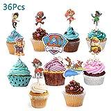 Colmanda Gâteau Toppers, 36 pièces Cupcake Toppers Décorations de gâteaux d'anniversaire Cake Topper pour Enfants Décor