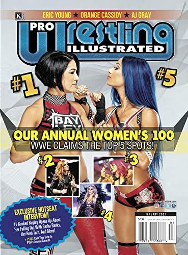 Pro Wrestling Illustrated: January 2021 Issue-PWI Women's 100, Bayley Interview, Orange Cassidy (English Edition)