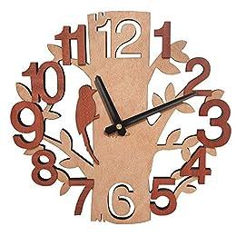 Orologio da muro è realizzato in legno sintetico. Le misure dell'orologi parete: 29.2x29.2x4.5cm(11.5x11.5x1.77 inch); il peso: 204g. L'orologio parete design appeso richiede una batteria AA (non inclusa). Un'ottima idea regalo per la festa di Natale...
