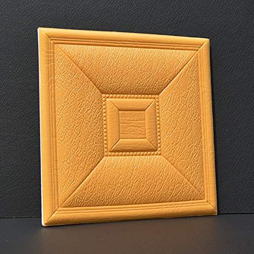 CAETNY Tiles Decorativos 3D Wall Stickers, TV Wall Art 3D Wallpaper Painéis de Parede 3D à Prova d'água Anti-colisão e autoadesivos Soft-S 30x30cm (12x12 polegadas)