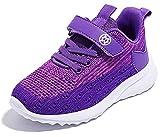 Gaatpot Unisex-Kinder Jungen Sneaker Kinder Sportschuhe Madchen Atmungsaktiv Outdoor Turnschuhe Freizeit Klettverschluss Schuhe Violett 34 EU