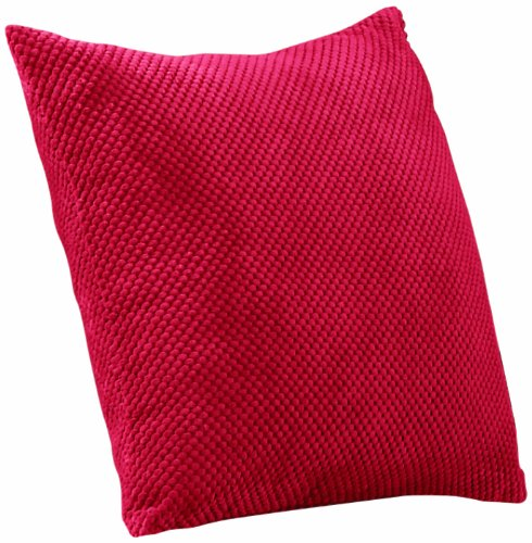 Mason Gray - Chenille Spot - Dotted Texture Large Scatter Cushion - 55x55cm (22x22''), Red