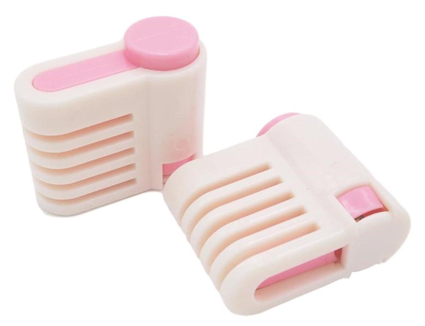起きる成り立つ無関心(SOWAKA) 均一 カット ケーキ スライサー 補助具 2個 セット (ピンク)