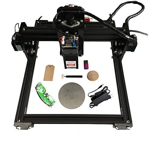 15000 mw láser Mini grabador láser máquina grabadora DIY Logo Printer para acero inoxidable Caja de teléfono móvil de vidrio Imagen de madera, 15W USB Personal CNC Desktop Laser Engraver