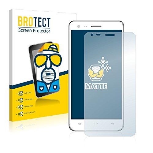 BROTECT 2X Entspiegelungs-Schutzfolie kompatibel mit Kazam Trooper 2 (5.0) Bildschirmschutz-Folie Matt, Anti-Reflex, Anti-Fingerprint