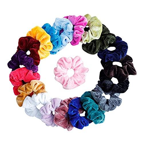 Hair Bands For Women With Thick Hair, 20 PCS Velvet Elastic Hair Band, Hair Accessories, Hair Elastics For Women Or Girls