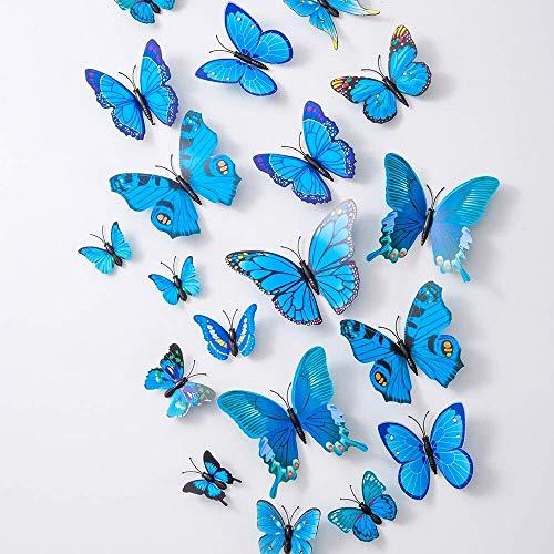 WXQIANG 36PCS Mariposa Tatuajes de Pared - 3D Mariposas decoración for la Sala de Etiqueta de la Pared removible Tema Adhesivo decoración del hogar decoración del Dormitorio de los niños