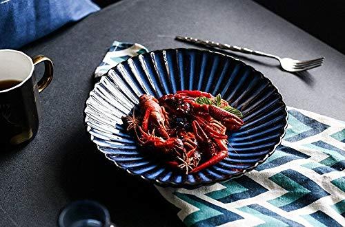 OFFer Ceramic plate Pottery gift Serving Housewarming Finally popular brand