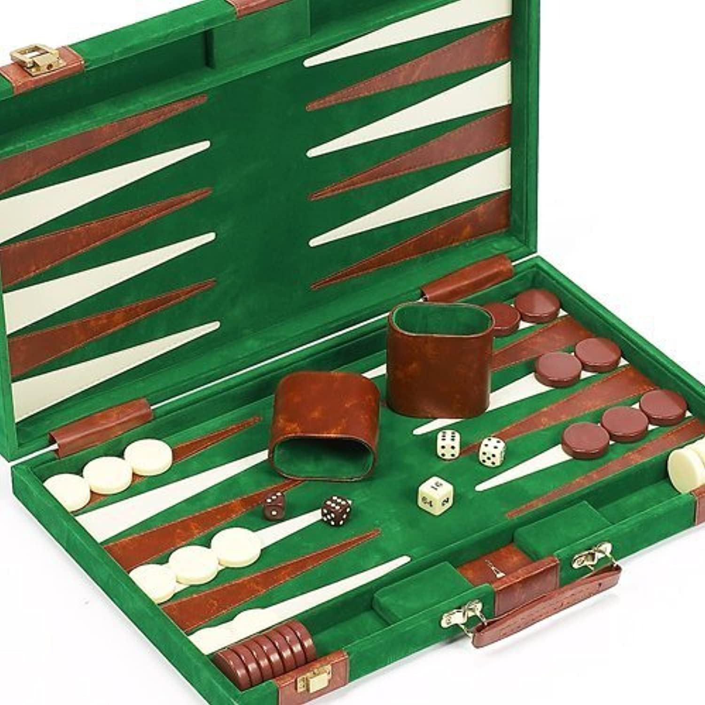 Bello Games Lexington Avenue Luxury Designer Backgammon Set 18