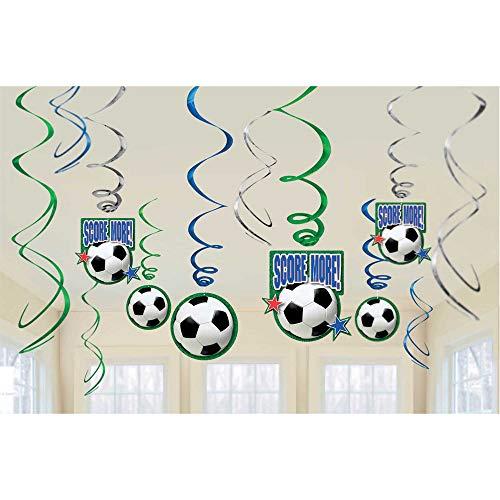 Amscan International Championnat de Football Décorations Tourbillons