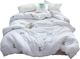 Bassinet Duvets Quilt Winter Thick Warm Double Quilt 150 200 cm Single Dormitory Spring and Autumn Quilt Cotton Fabric Soft Warm Allergic Ideal Quilt (Color : White, Size : 150×200cm/3kg)