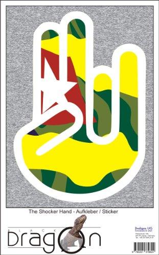 THE SHOCKER HAND - Wandtattoo / Wandaufkleber/ Aufkleber - weißer Umriss mit Fahne / Flagge - Togo-Togos 100 cm