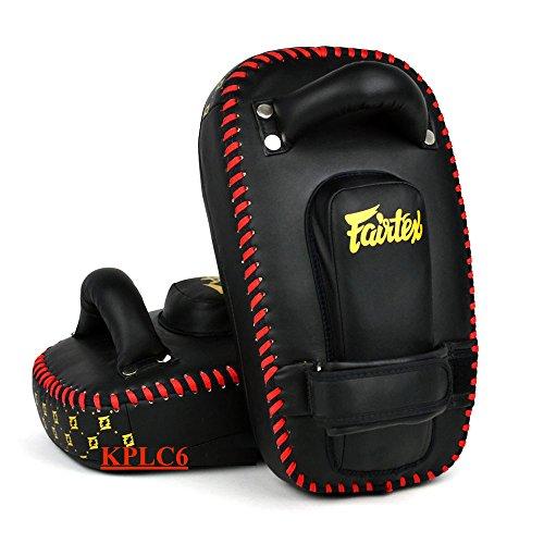 Fairtex Muay Thai Kickboxing Small Curved Thai Pads -KPLC6 -Microfibre Material